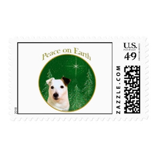 Jack Russell Terrier Peace Postage Stamp