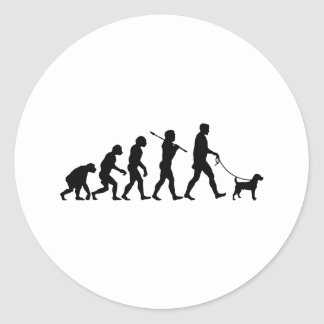 Jack Russell Terrier Etiqueta Redonda
