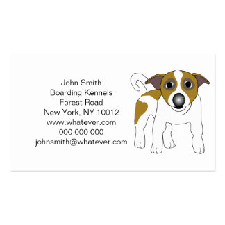 Jack Russell Terrier Personalized Boarding Kennels Business Card