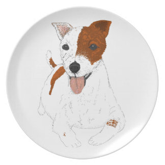 Jack Russell Terrier Party Plate