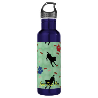 Jack Russell Terrier Play Bow 24oz Water Bottle