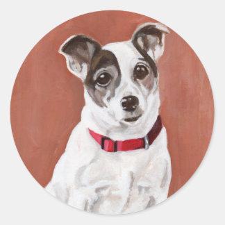 Jack Russell Terrier Portrait Sticker