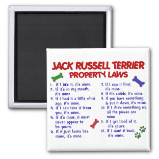 JACK RUSSELL TERRIER Property Laws 2 2 Inch Square Magnet