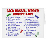 JACK RUSSELL TERRIER Property Laws 2 Greeting Card