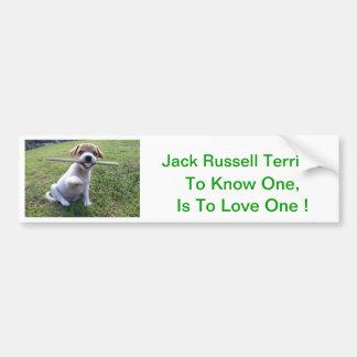 Jack Russell Terrier Puppy Car Bumper Sticker
