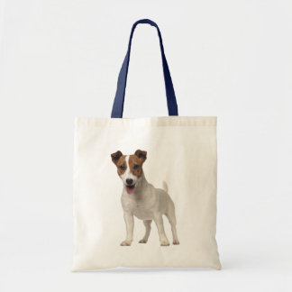 Jack Russell Terrier Puppy Dog Brown And White Tote Bag
