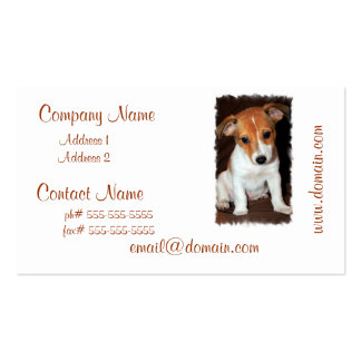 Jack Russell Terrier Puppy Dog Business Card