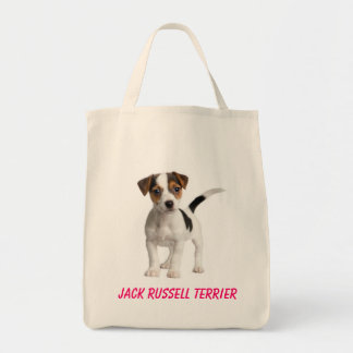 Jack Russell Terrier Puppy Dog Grocery Tote Bag