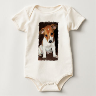 Jack Russell Terrier Puppy Dog  Infant Baby Creeper