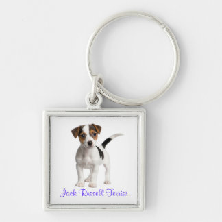 Jack Russell Terrier Puppy Dog Keychain