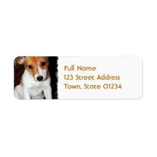 Jack Russell Terrier Puppy Dog Mailing Label