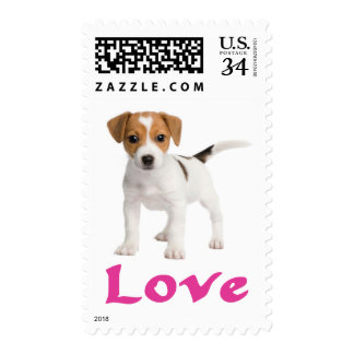 Jack Russell Terrier Puppy Dog Postage Stamps