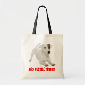 Jack Russell Terrier Puppy Dog Red Love Hearts Tote Bag