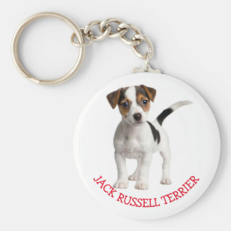 Jack Russell Terrier Puppy Dog Red Love Keychain