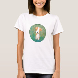 Jack russell terrier Puppy Dog T-shirt by MiKa Art