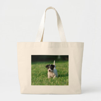 Jack Russell Terrier puppy Large Tote Bag