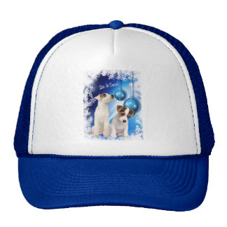 Jack Russell Terrier Puppy Let It Snow Design Trucker Hat