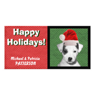 Jack Russell Terrier Puppy Custom Photo Card