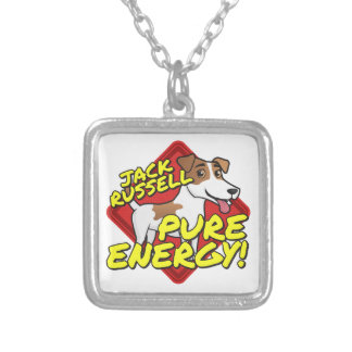 Jack Russell Terrier - Pure Energy Square Pendant Necklace