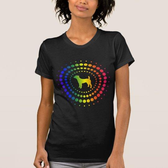 Jack Russell Terrier Rainbow Studs T-Shirt