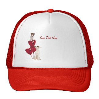 Jack Russell Terrier Really Cute Valentine Design Trucker Hat