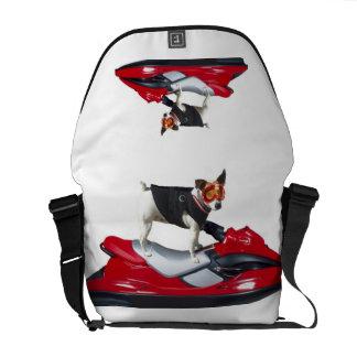 Jack Russell terrier Rickshaw messenger bag
