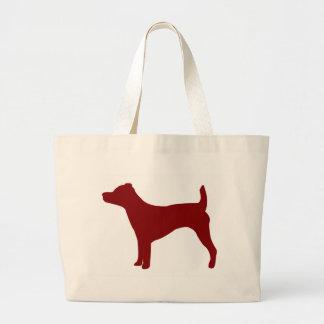 Jack Russell Terrier (rojo) Bolsas De Mano