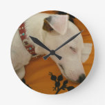 Jack Russell Terrier Round Clock