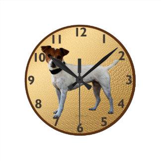 Jack Russell Terrier Round Clocks