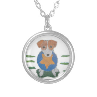 Jack Russell Terrier Round Pendant Necklace