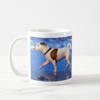 Jack Russell Terrier Running On The Beach Coffee Mug