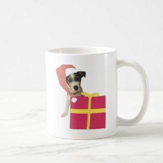 Jack Russell Terrier Santa Hat Coffee Mug