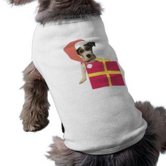 Jack Russell Terrier Santa Hat T-Shirt