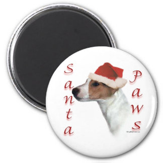 Jack Russell Terrier Santa Paws 2 Inch Round Magnet