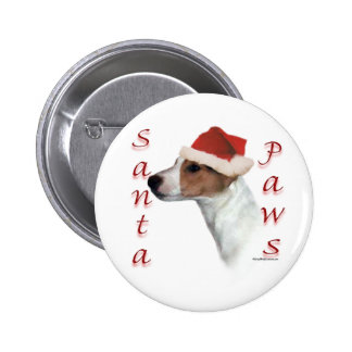 Jack Russell Terrier Santa Paws Pinback Button