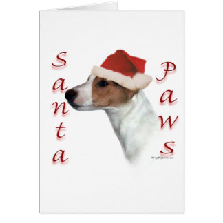 Jack Russell Terrier Santa Paws Card