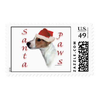 Jack Russell Terrier Santa Paws Postage Stamps