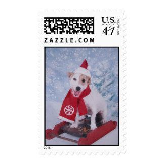 Jack  Russell Terrier   - Santa's Helper Postage