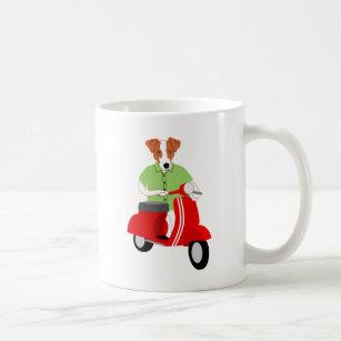 Jack Russell Terrier Scooter Coffee Mug