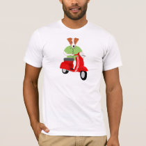Jack Russell Terrier Scooter T-Shirt