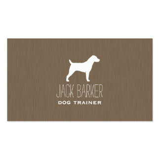 Jack Russell Terrier Silhouette Business Card