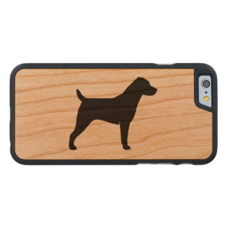 Jack Russell Terrier Silhouette Carved Cherry iPhone 6 Case
