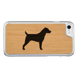 Carved Apple iPhone 7 Wood Case with Jack Russell Terrier Phone Cases design