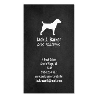 Jack Russell Terrier Silhouette - Chalkboard Style Business Card