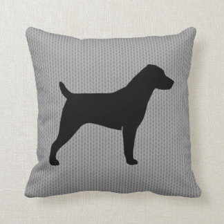 Jack Russell Terrier Silhouette Pillow