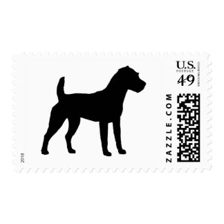 Jack Russell Terrier Silhouette Stamps