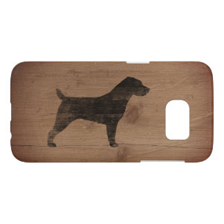 Jack Russell Terrier Silhouette Rustic Samsung Galaxy S7 Case