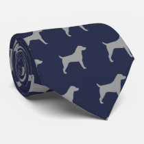 Jack Russell Terrier Silhouettes Pattern Tie