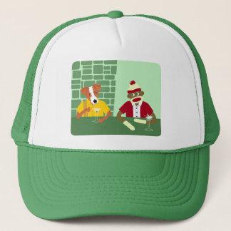 Jack Russell Terrier & Sock Monkey Trucker Hat