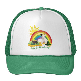 Jack Russell Terrier St. Patrick's Day Wishes Trucker Hat